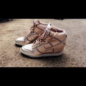 Rose Gold Nike Booties